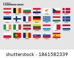 vector flags of european union... | Shutterstock .eps vector #1861582339