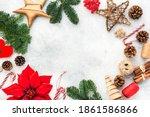 Christmas Background  Pine...