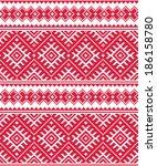 ukrainian red seamless folk... | Shutterstock .eps vector #186158780