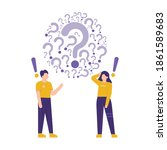 illustration of a team or group ... | Shutterstock .eps vector #1861589683