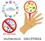 set of realistic bacteria or... | Shutterstock .eps vector #1861593826
