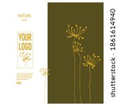 vector  minimalistic template... | Shutterstock .eps vector #1861614940