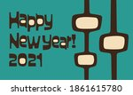 happy new year 2021 greeting in ... | Shutterstock .eps vector #1861615780