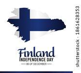 vector graphic of finland... | Shutterstock .eps vector #1861628353