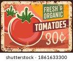 tomatoes rusty metal plate ...   Shutterstock .eps vector #1861633300
