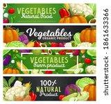 vegetables and farm veggies ... | Shutterstock .eps vector #1861633366
