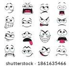 cartoon face expression... | Shutterstock .eps vector #1861635466