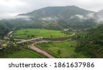 Wonderful Mountain Range With...