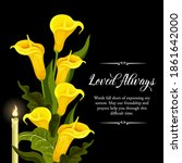 funeral vector card with yellow ...   Shutterstock .eps vector #1861642000