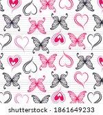 butterflies and beautiful... | Shutterstock .eps vector #1861649233