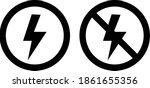 lightning and no lightning on... | Shutterstock .eps vector #1861655356