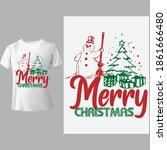 merry christmas element design. ... | Shutterstock .eps vector #1861666480
