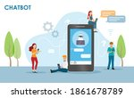 people online communicate with...   Shutterstock .eps vector #1861678789