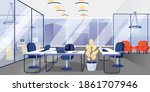modern office open space for... | Shutterstock .eps vector #1861707946