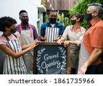 new normal grand opening of... | Shutterstock . vector #1861735966