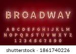 light bulb alphabet. broadway... | Shutterstock .eps vector #1861740226