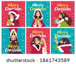 new year 2021 and christmas...   Shutterstock .eps vector #1861743589