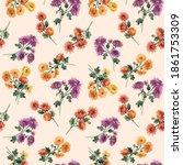 beautiful seamless floral... | Shutterstock . vector #1861753309