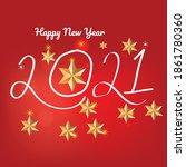 hand written lettering with... | Shutterstock .eps vector #1861780360