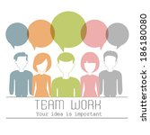people icons with dialog idea... | Shutterstock .eps vector #186180080