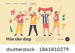 friends having fun on sport... | Shutterstock .eps vector #1861810279