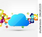 application button.social media....   Shutterstock . vector #186181223