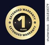 one year extended warranty... | Shutterstock .eps vector #1861818379