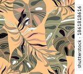 art background creative textile ... | Shutterstock . vector #1861818616