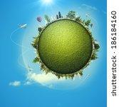 global eco transportation... | Shutterstock . vector #186184160