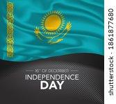 kazakhstan happy independence...   Shutterstock .eps vector #1861877680