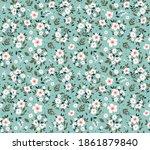 seamless vintage floral pattern.... | Shutterstock .eps vector #1861879840