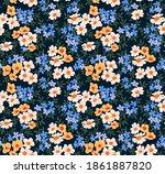 floral pattern. seamless...   Shutterstock .eps vector #1861887820