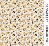 seamless vintage floral pattern....   Shutterstock .eps vector #1861890790
