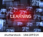 future technology red... | Shutterstock . vector #186189314