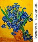 Oil Painting On Canvas. Vase...