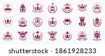 classic style crowns emblems... | Shutterstock .eps vector #1861928233