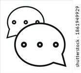 message icon vector . isolated...