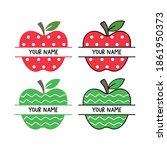draw vector illustration apple... | Shutterstock .eps vector #1861950373