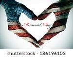 memorial day written in the... | Shutterstock . vector #186196103