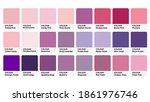 pantone pink   purple colour...   Shutterstock .eps vector #1861976746