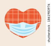 heart  facial mask isolated.... | Shutterstock .eps vector #1861983976