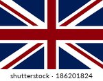 vector image of british flag | Shutterstock .eps vector #186201824