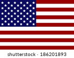 vector image of american flag | Shutterstock .eps vector #186201893