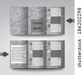 brochure template with abstract ... | Shutterstock .eps vector #186202298