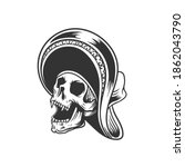 the skull in a hat. can be used ... | Shutterstock .eps vector #1862043790
