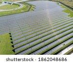 Solar Photovoltaic Of Aerial...