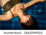 Beautiful Girl Swimming In The...