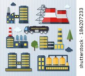 modern industrial flat... | Shutterstock .eps vector #186207233