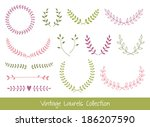 vector laurel branches and... | Shutterstock .eps vector #186207590