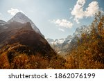 A View Of A Mountain Gorge With ...